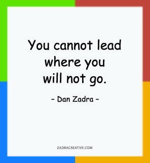 You cannot lead