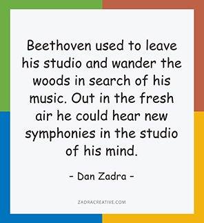 Beethoven used to leave