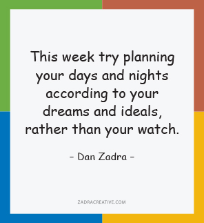 This week try planning